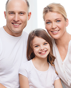 Happy family with a young daughter